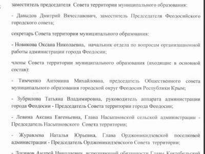 Совет территорий города Феодосии